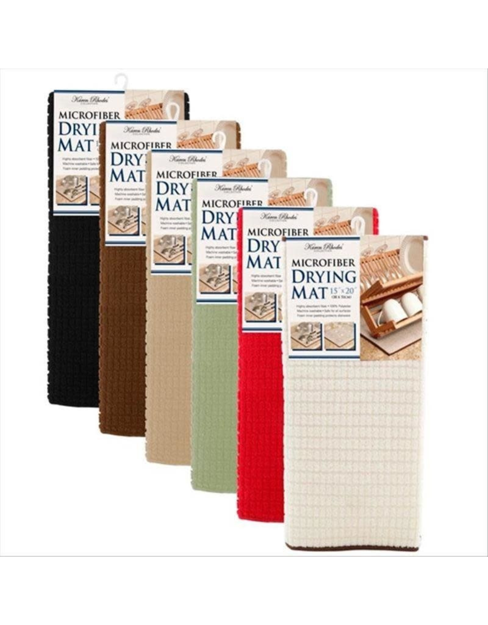 "15X20"" BASIC MICROFIBER DRYING MAT- SOLID COLOR"