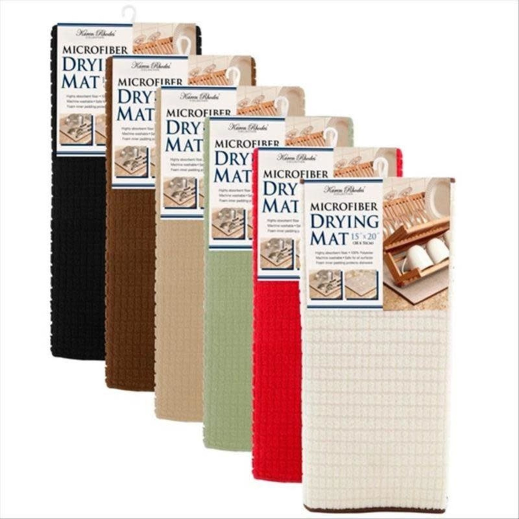 """15X20"""" BASIC MICROFIBER DRYING MAT- SOLID COLOR"""