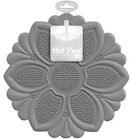 Grey Flower Trivet