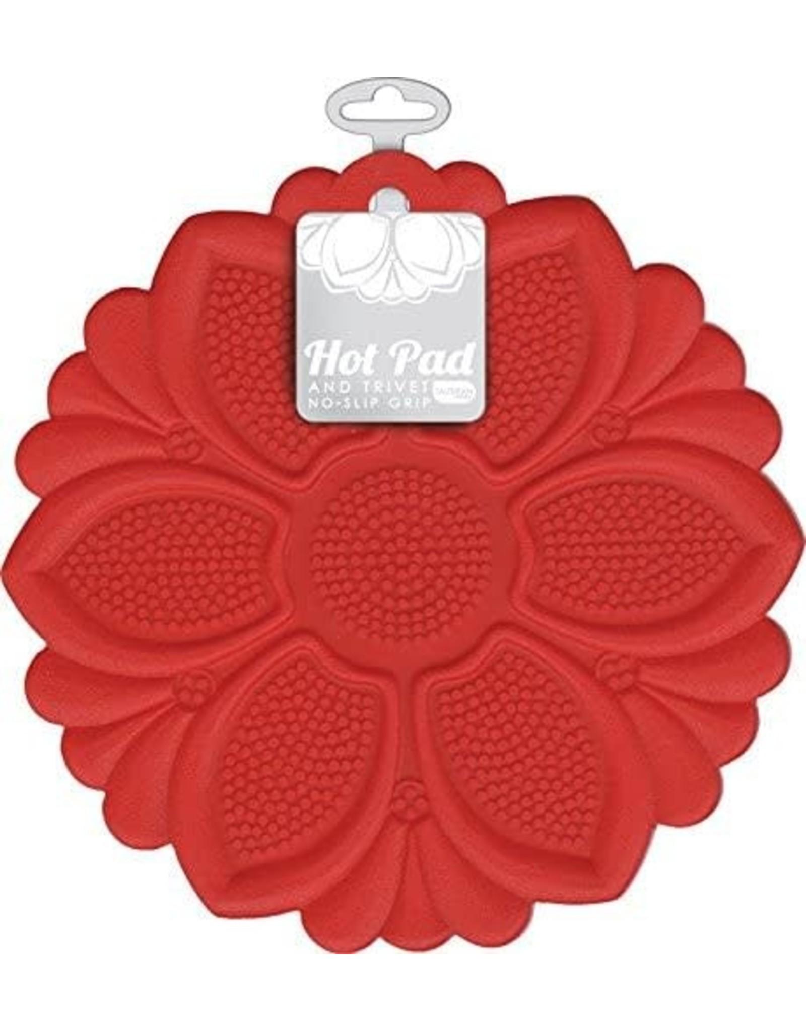 Red Flower Trivet