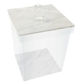 Cookie jars White marble Large