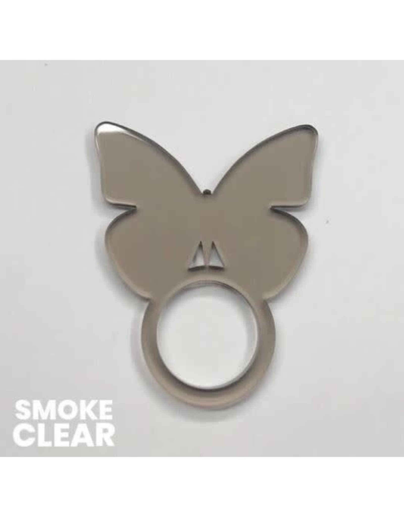 Set of 4 Clear Smoke Butterfly Napkin Ring