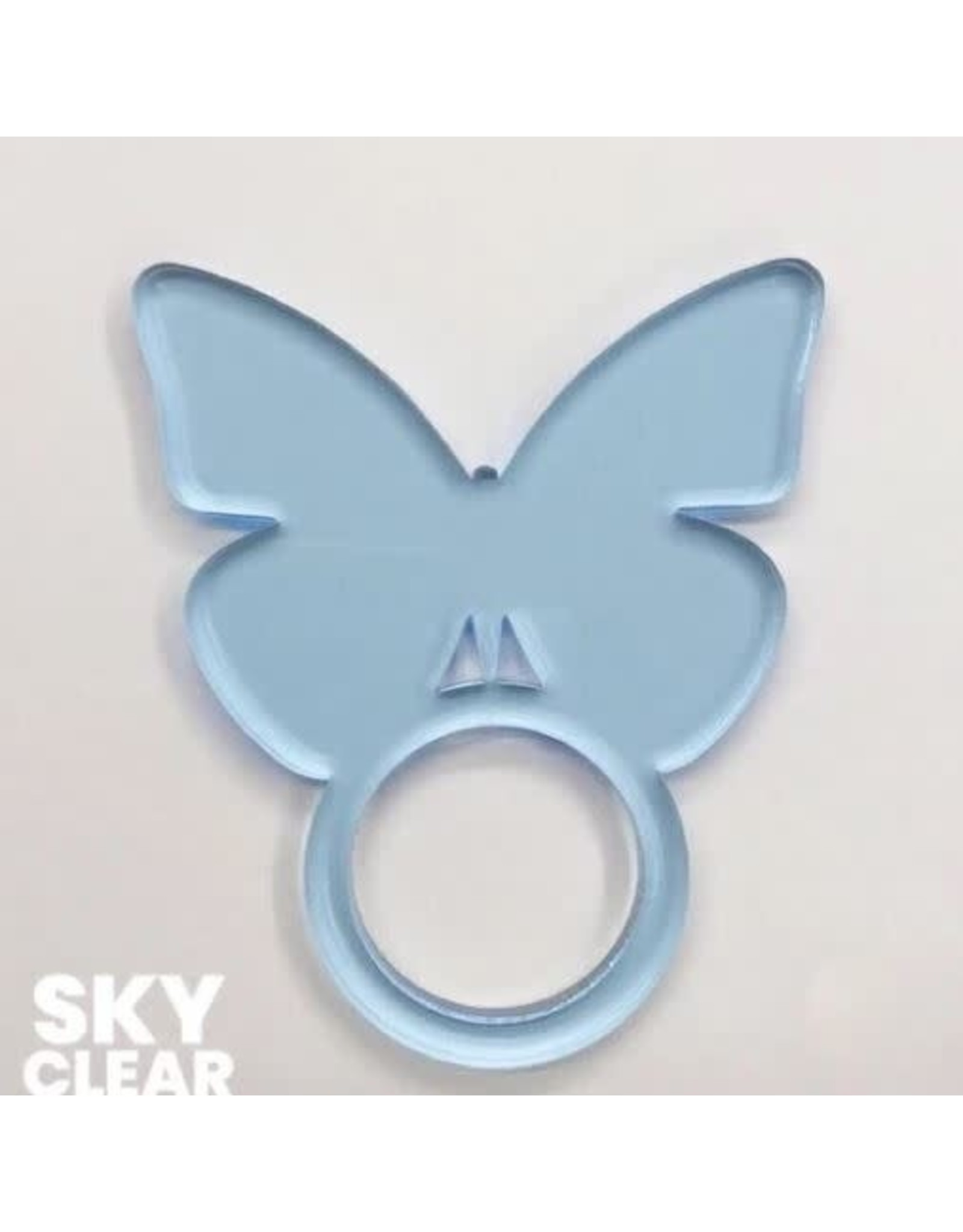 Set of 4 Sky Clear Butterfly Napkin Ring