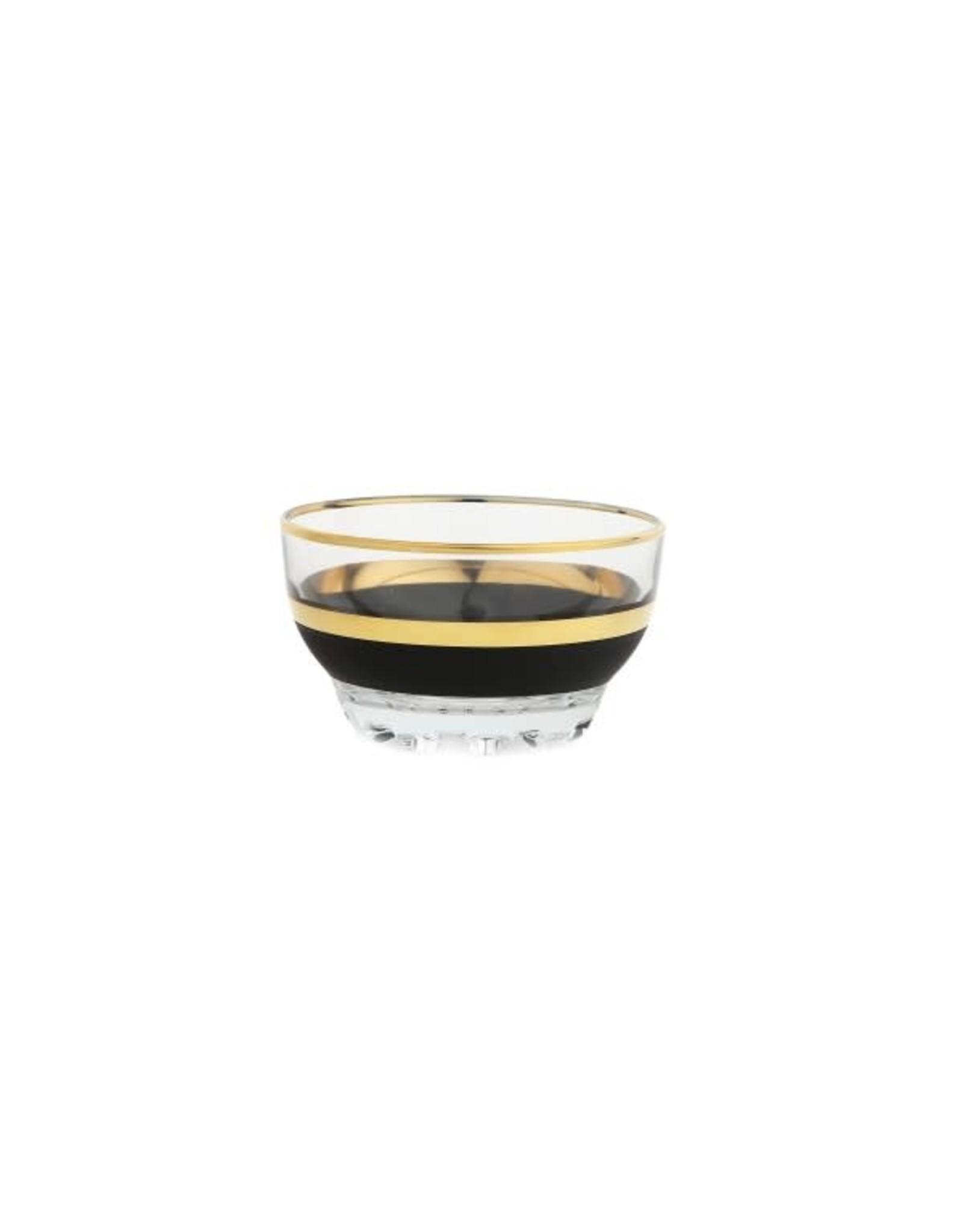 GDB2057 Black & Gold Design Dessert Bowl