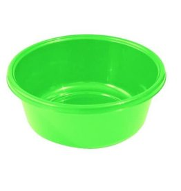 Round Plastic Wash Basin-Green 9in
