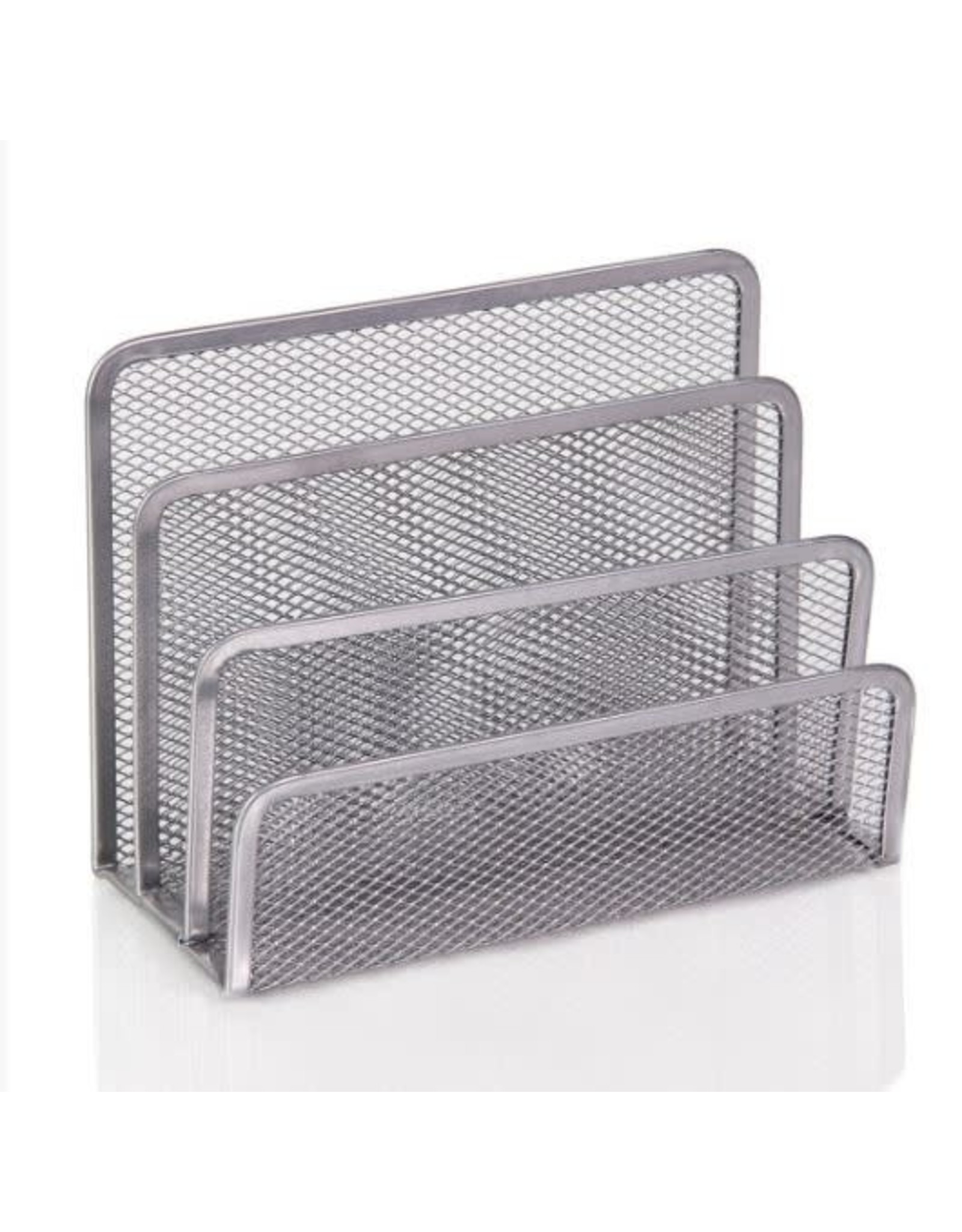 3 Slot Mesh Silver Letters and Documents Sorter Holder #2372