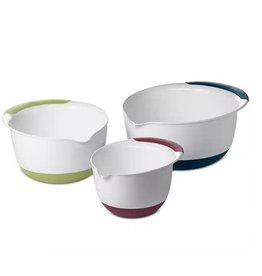 OXO OXO Good Grips 3-Piece Mixing Bowl Set, Blue/Green/Yellow