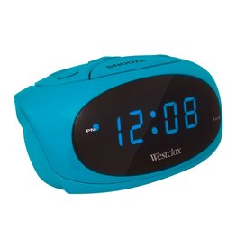 Teal Led Super Loud Alarm Clock