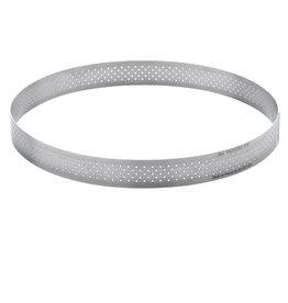 """Valrohna Perforated Tart Ring - 4-1/4"""""""