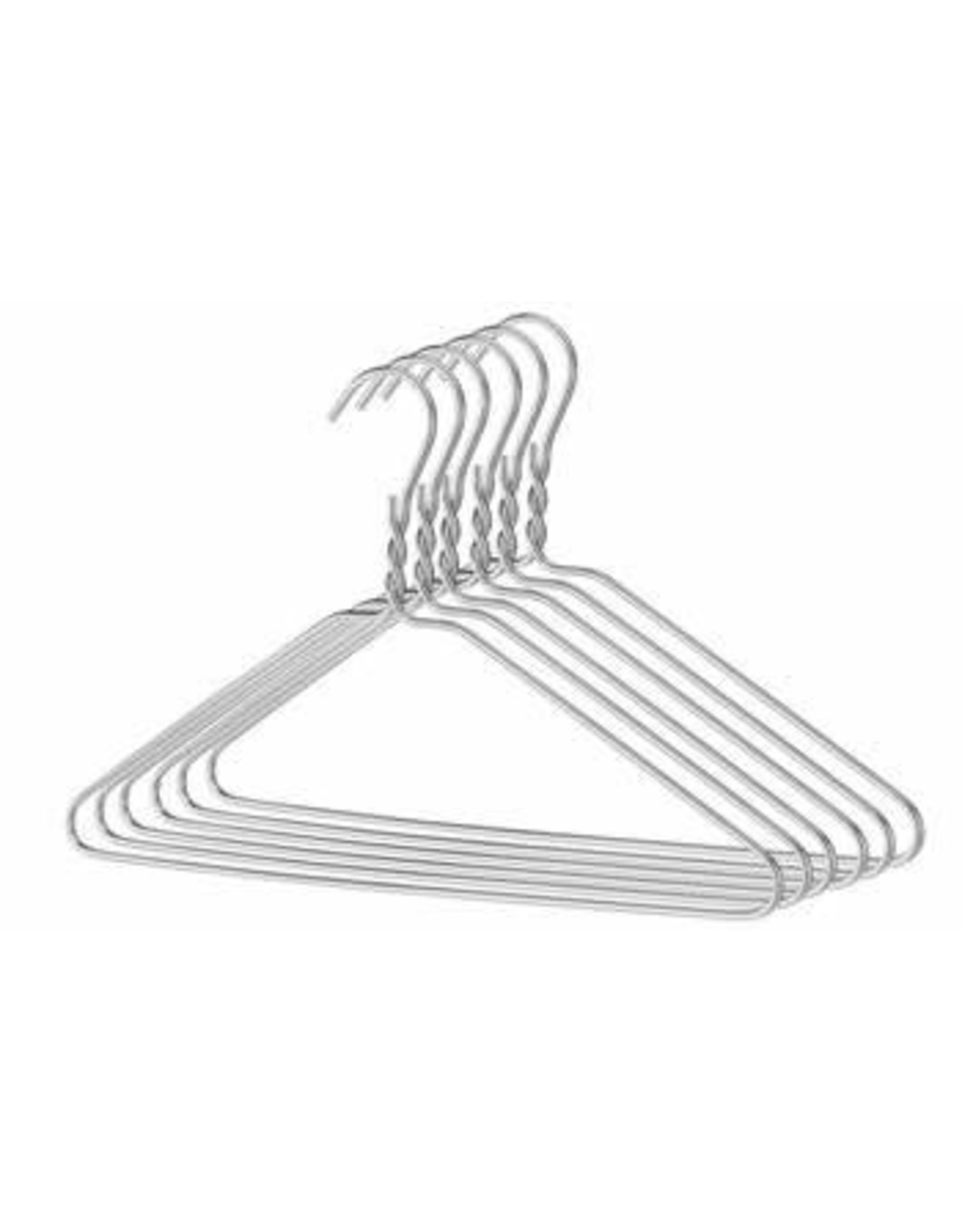 10 Pc Quality Silver Hangers