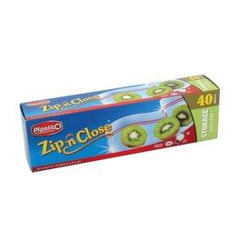 Zip & Close 40ct Gallon Bags