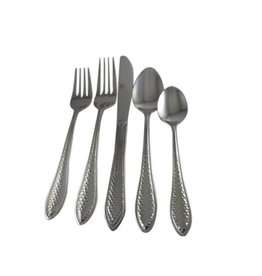Metropolitan American Hammered Stainless Steel Service For 4