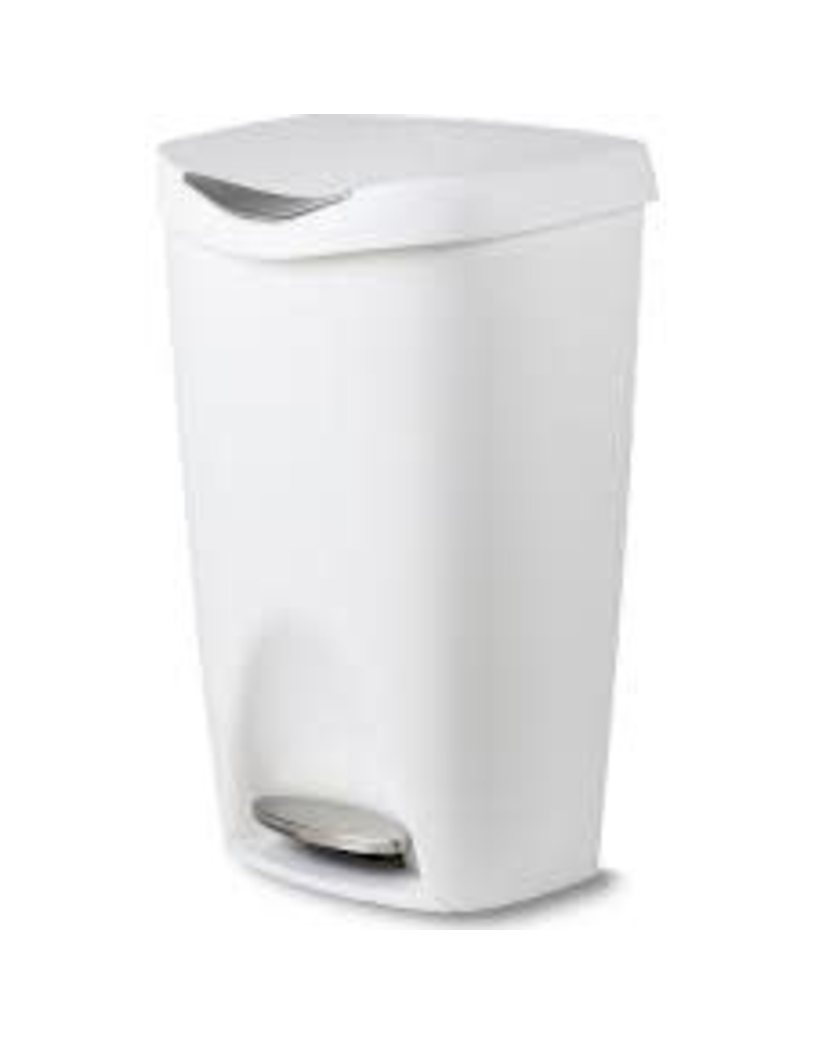 Brim Step on Trash Can 13G | White/Nickel