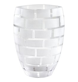 "CD850 12"" Frosted Wall Vase"