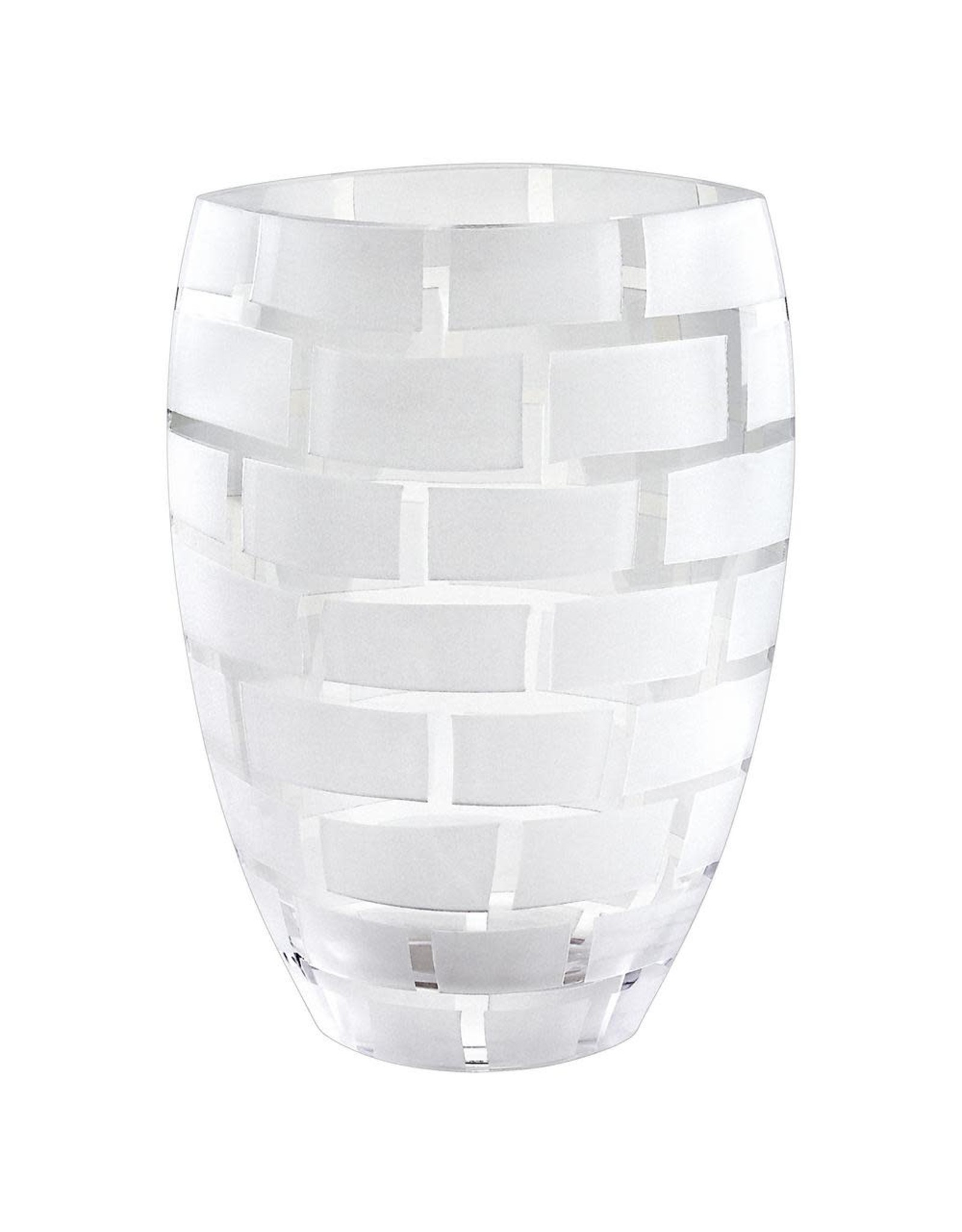 """CD850 12"""" Frosted Wall Vase"""