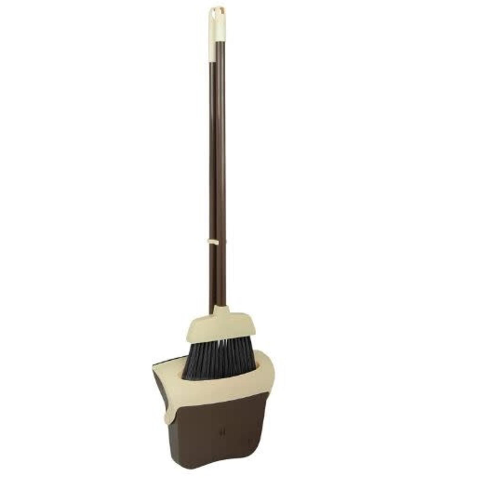 Beige/Brown Broom & Dust Pan Set