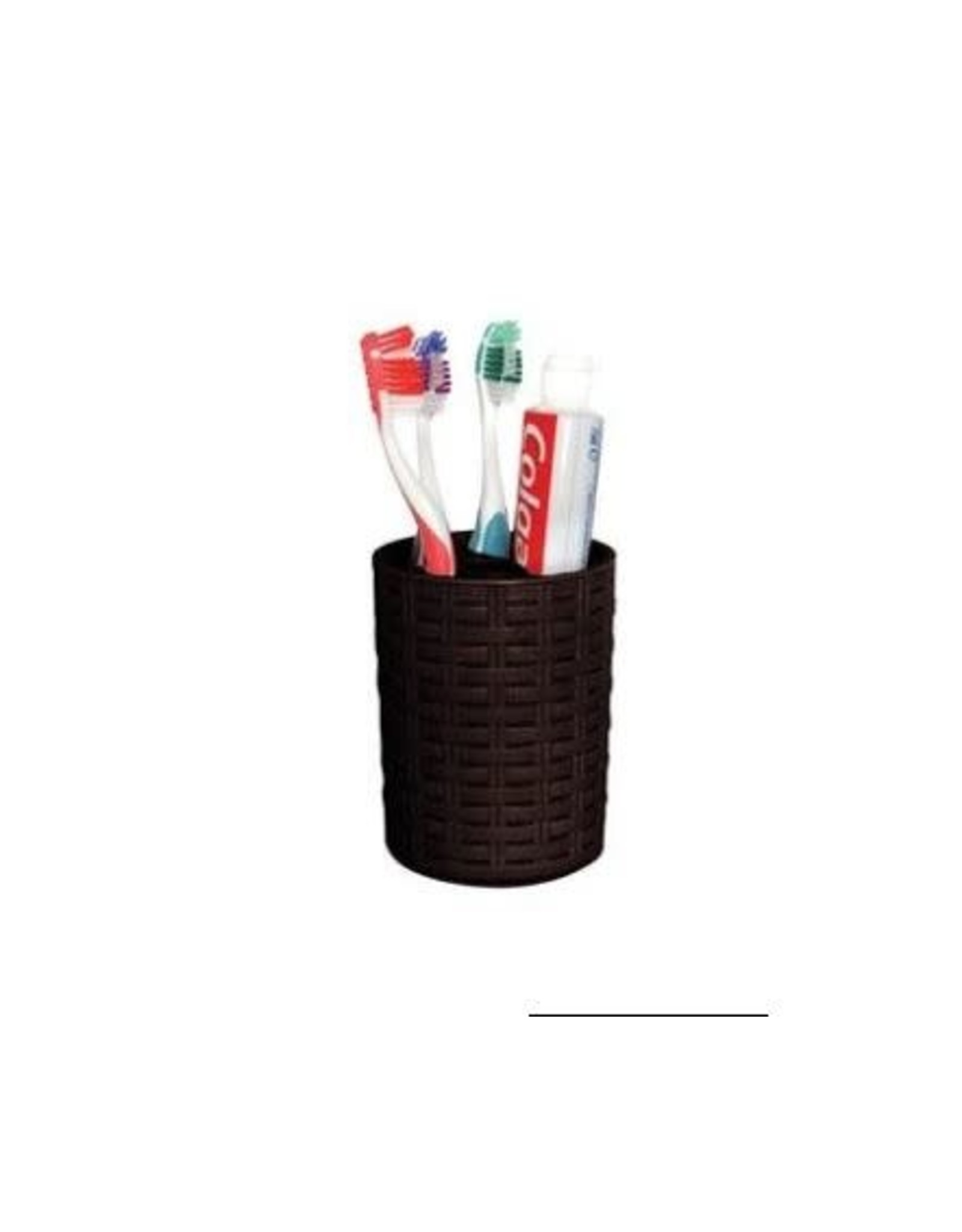 Palm Luxe Tooth Brush Holder - Brown