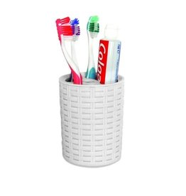 Plam Luxe Tooth Brush & Tooth Paste Holder - White
