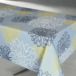 """Contempo Grey 58x94"""" Stain Resistant Tablecloth"""