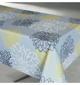 "Contempo Grey 58x94"" Stain Resistant Tablecloth"