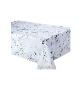 "Dahlia Dove 58x94"" Stain Resistant Table Cloth"