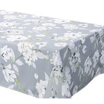 "Dahlia Grey 90x58"" Stain Resistant Tablecloth"