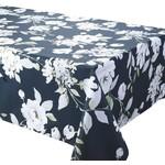 "Dahlia Black 70x70"" Stain Resistant Tablecloth"