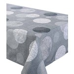 """Corona Grey 70"""" Round Stain Resistant Tablecloth"""