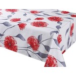 """Dandy Red 70"""" Round Stain Resistant Tablecloth"""