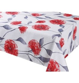 "Dandy Red 70"" Round Stain Resistant Tablecloth"