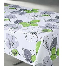 "Floral Green 70"" Round Stain Resistant Tablecloth"