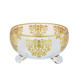 Large Bowl with Gold Design