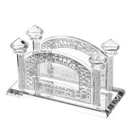 15820 Crystal Jerusalem Silver Napkin Holder