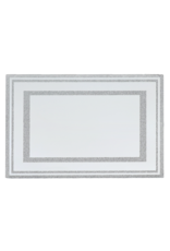 18002 Mirrored Silver Glitter Leichter Tray