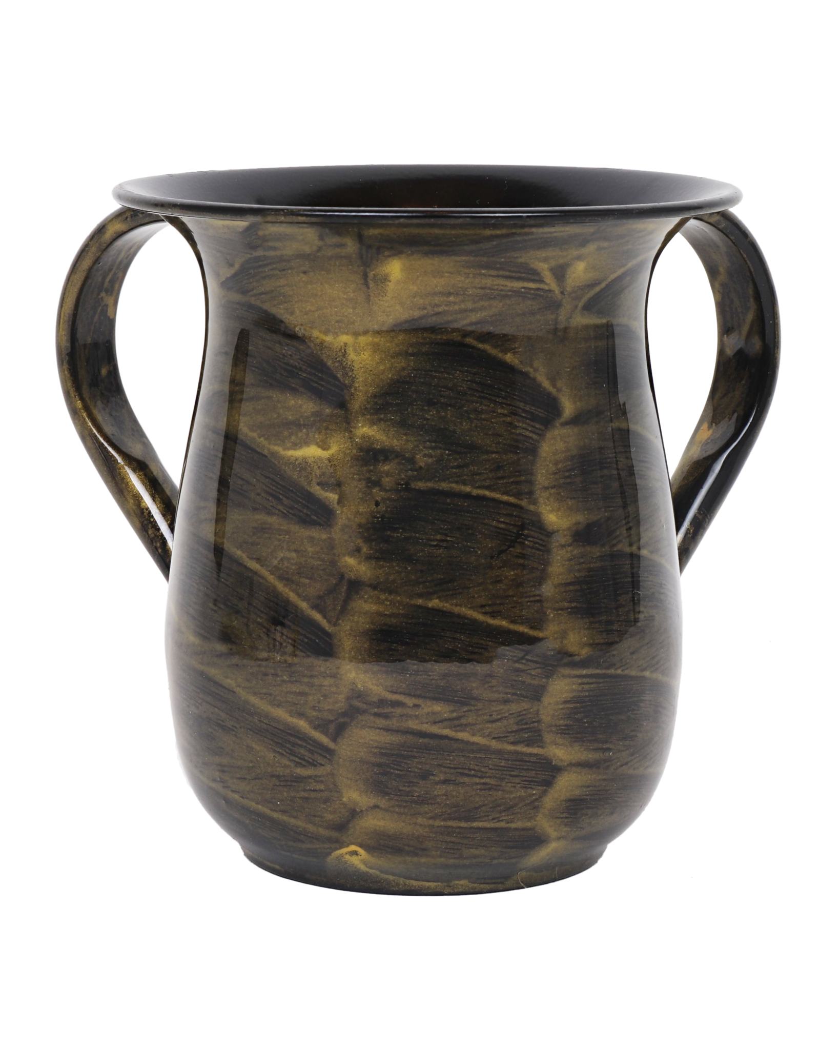 57133 Gold Coated Waves Washing cup