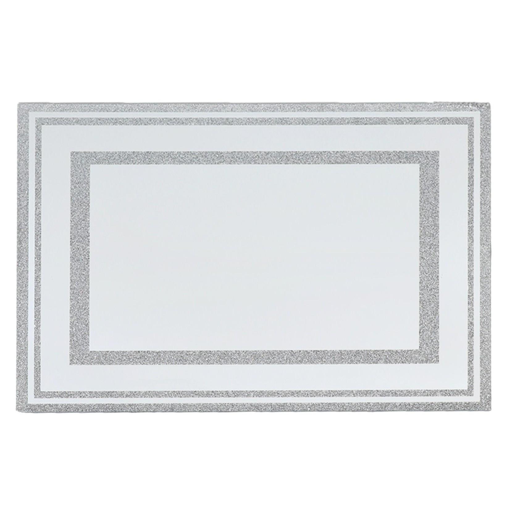 18000 Mirror & Silver Glitter Leichter tray
