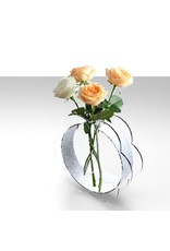 Acrylic Blossom Vase Silver Glitter