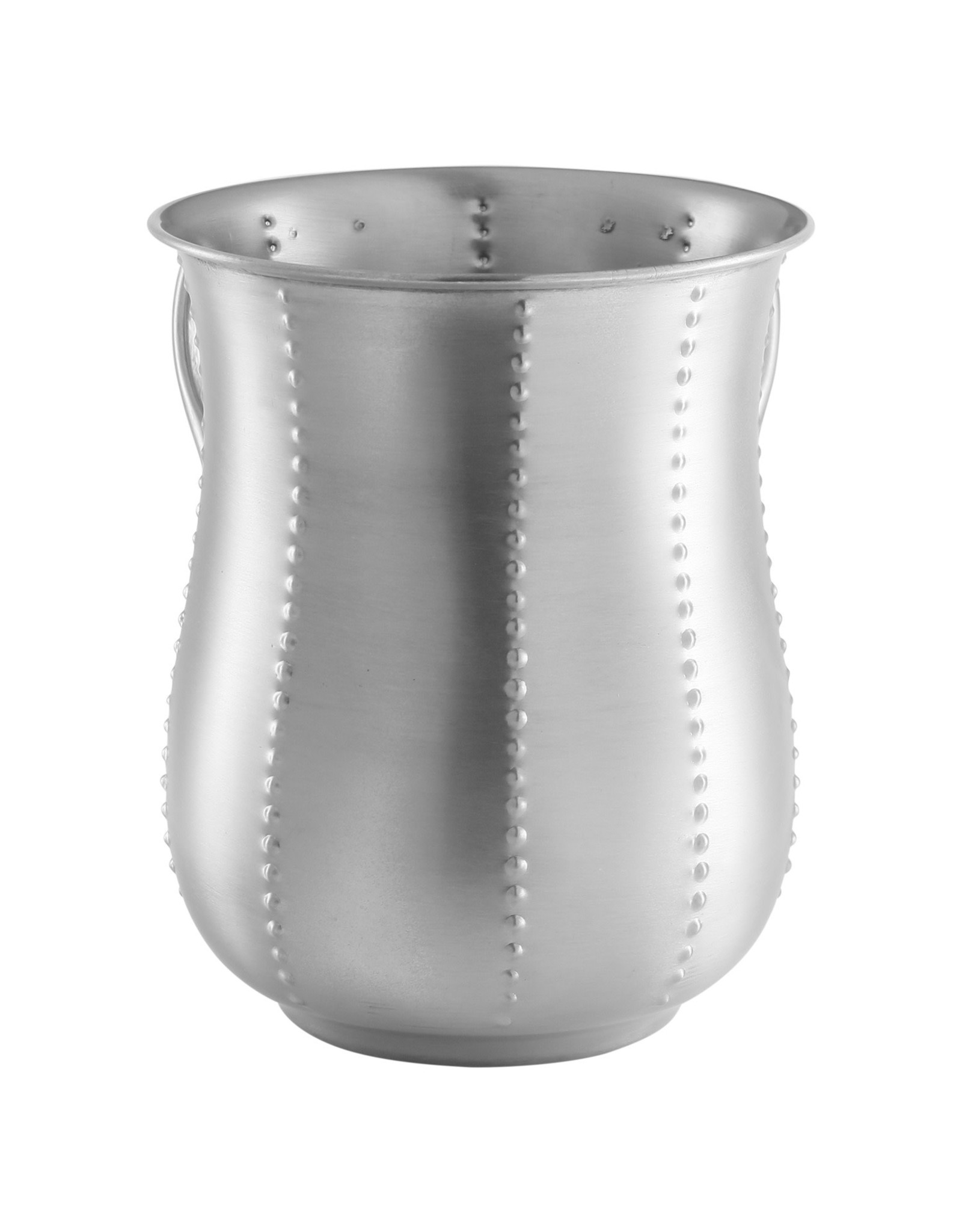 56963 Stainless Steel Matt Wash Cup w Dotted Stripes