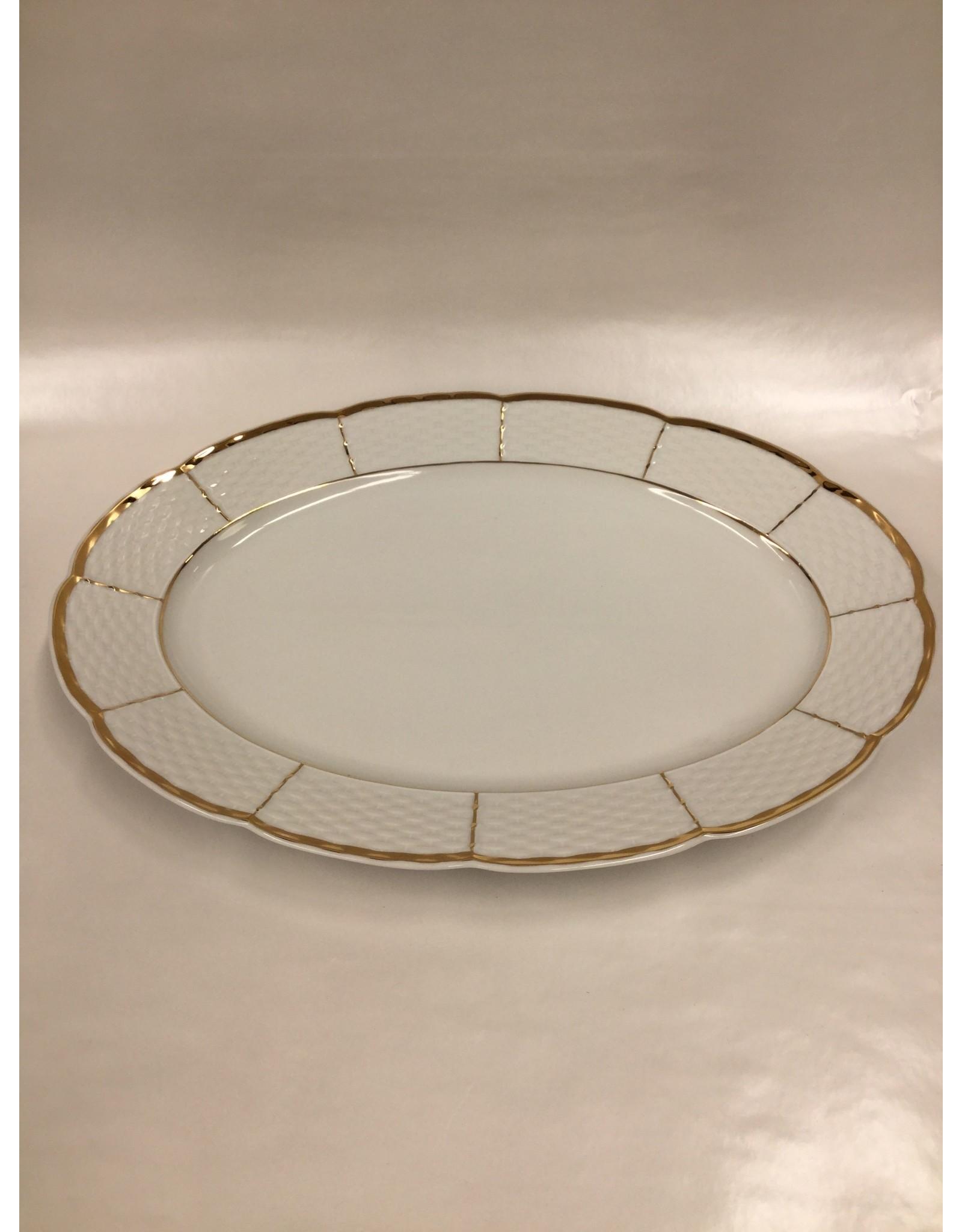 Bernadotte Lines Gold Serving Platter