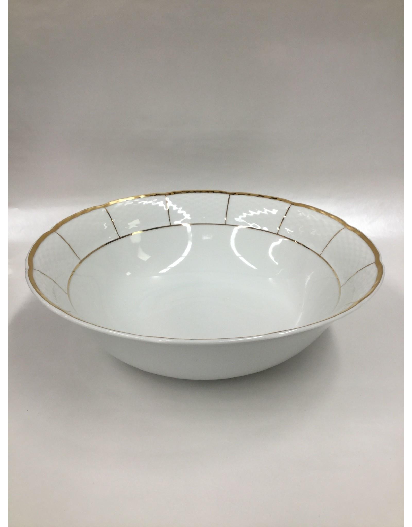 Bernadotte Lines Gold Vegetable Serving Bowl