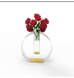 Circle Out Vase Gold Accent