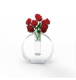Circle Out Vase Silver Accent