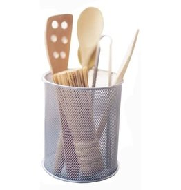 Silver Mesh Utensil Cup Organizer