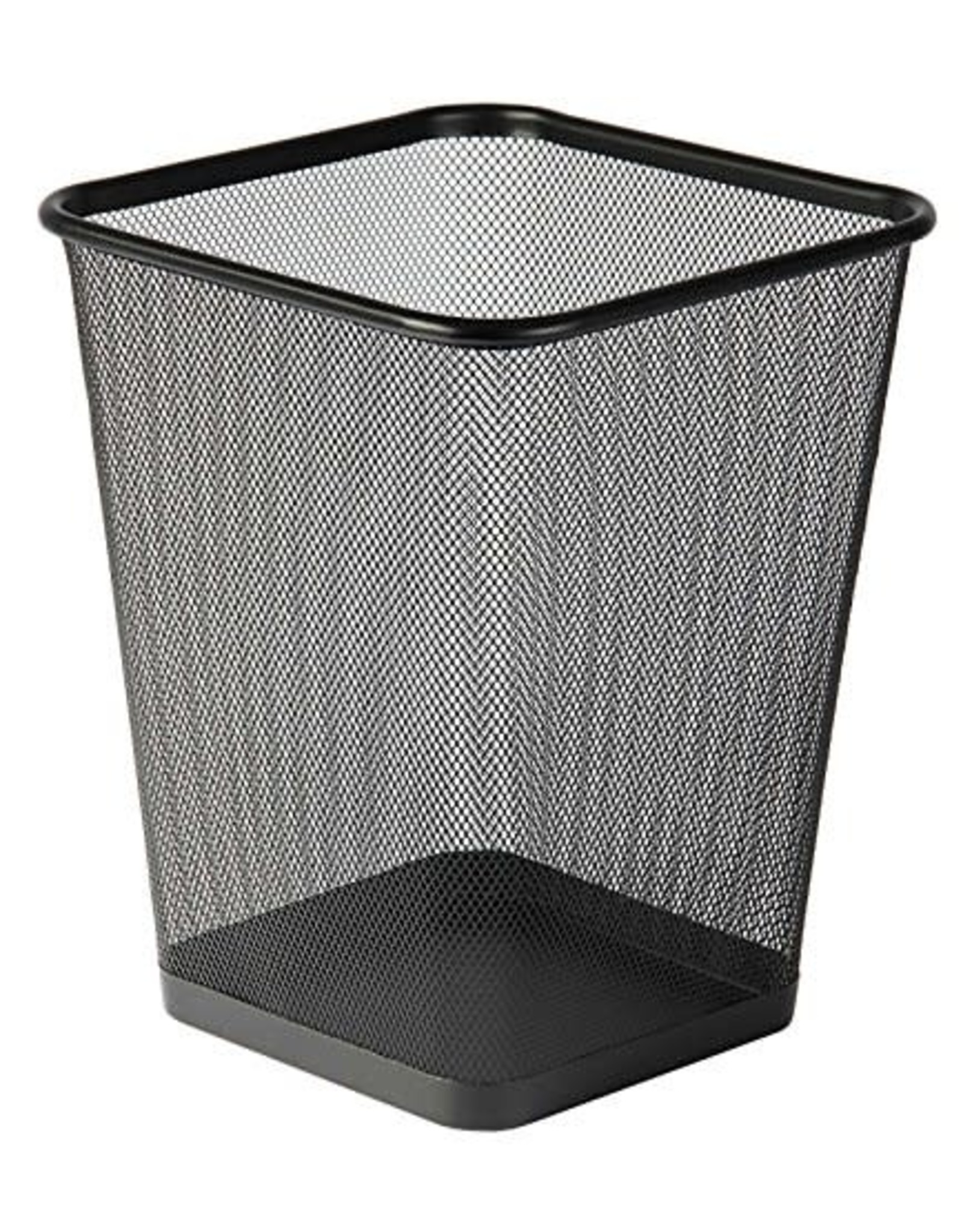 Black Mesh Square Waste Bin