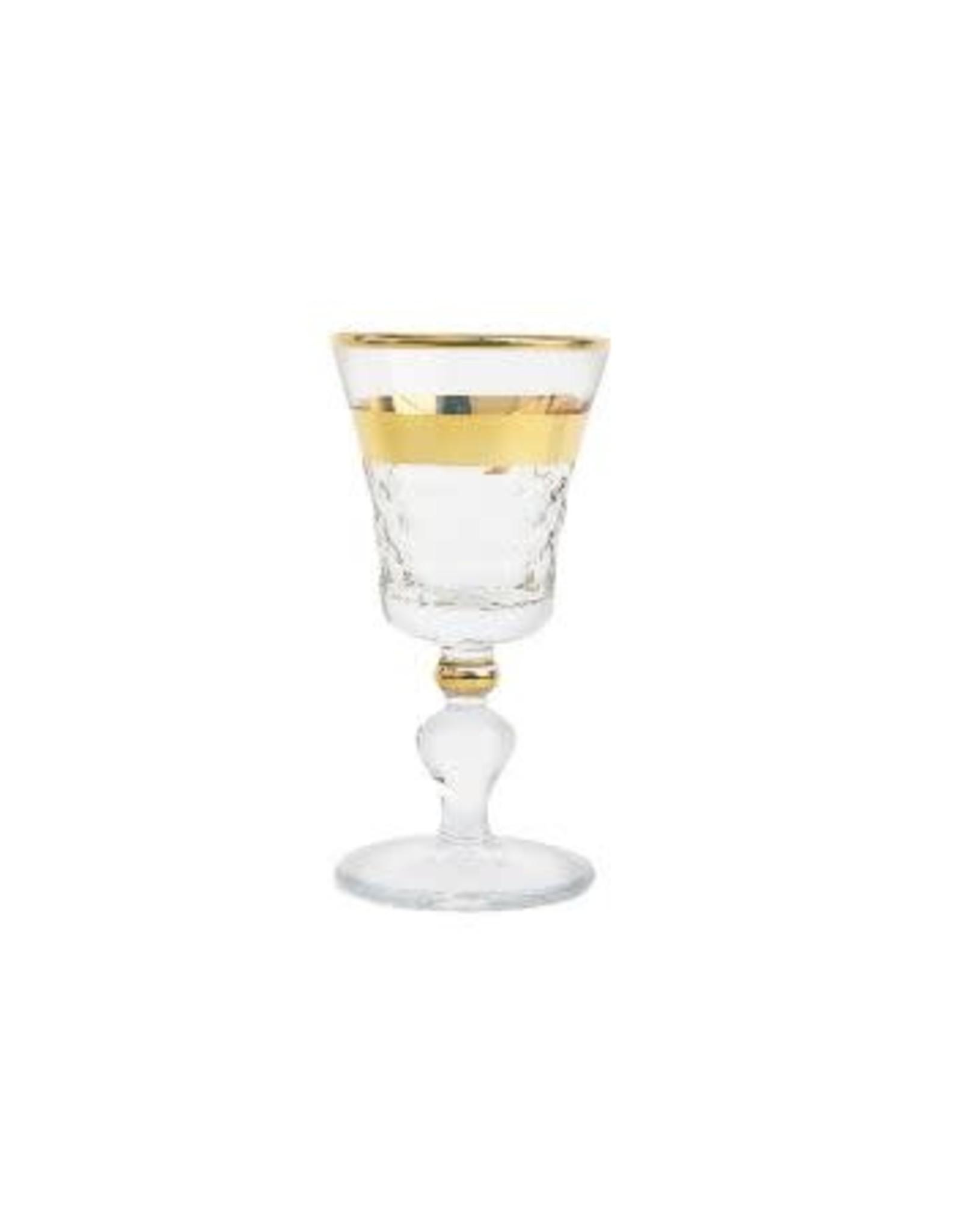 CLG2060 Set of 6 Shot Glasses with Detailed Crystal design