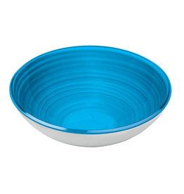 L Bowl Twist - Clear Blue