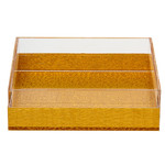 Napkin holder Lucite Gold Solid