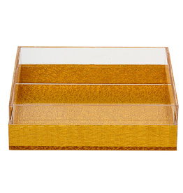 Napkin Holder Lucite Gold