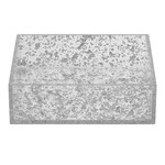 Napkin Holder Lucite Flakes- Silver