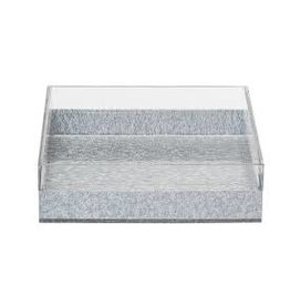 Napkin Holder Lucite Silver